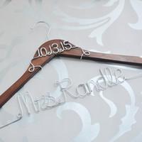 Wholesale Custom Wedding Hangers - Personalized wedding gift Bridal Dress Hanger,Name Hanger,custom wedding hanger