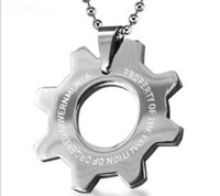 Wholesale Gear Wars - Wholesale Bahamut Gears of War 3(GOW) Brothers Dog Tag Pendant Necklace Free With Chain(titanium Steel )