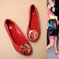 Wholesale Loafers Elastic - 2015 special price elastic and comfortable flat after big European and American models counters quality shoes metal round big size shoes
