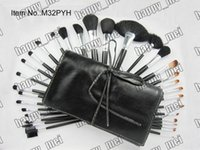 Wholesale Set Brushes 32 Pieces - Factory Direct DHL Free Shipping New Makeup Professional Brushes 32 Pieces Brush Sets With Leather Pouch!