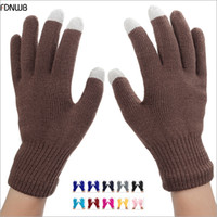 Wholesale Iphone Color Options - Wholesale- Fastest Delivery - Women Men Unisex Winter Warm Knitted Gloves Touchable Screen for Iphone Smartphone Glove 10 color options