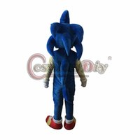 Wholesale Sonic Hedgehog Costume Adults - Wholesale-Professional Hedgehog Sonic Mascot Costume Adult Halloween Cartoon Mascot Costume Custom Made D0227