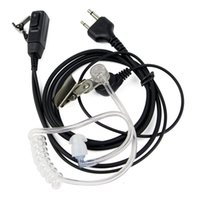 Wholesale Earpiece Earphone For Radio - 10pcs 2 PIN Walkie Talkie Earphones Earpieces Acoustic Tube For ICOM Radio C035