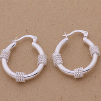 Wholesale Sterling Silver Belly - Fashion (Jewelry Manufacturer) 20 pcs a lot Snake belly pack thread earrings 925 sterling silver jewelry factory Fashion Shine Earrings