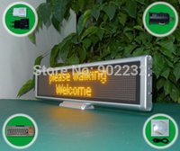 screen / mesa Atacado-Free Navio / SC1696B / Led Message Board / USB sinal programável / Yellow Cor / Scrolling sinal / SMD 0603 mesa digital / led