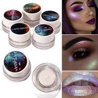 Wholesale Cream Color Eyeshadow - Glitter Cream Pigment Single Eyeshadow Brighten Highlighters Countour Base Waterproof Shimmer Metallic Eyeshadow 5ML Have 5 Different Colors
