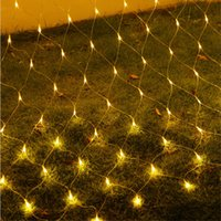 Wholesale Outdoor Led Xmas Eu - 2x2M 144 LED Outdoor Net Lights Christmas Xmas Fairy String Party Holiday Wedding Party Decoration Lights EU Plug Blue Colorful Hot
