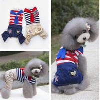 Cute Navy Dog Pet Tuta Morbida con Red Blue Tie Puppy Dog Con cappuccio economici Carino Pet Vestiti Cappotti Fornitore dell'animale domestico Ordine di alta qualità Mix 25PCS / LOT