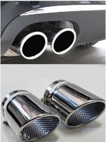 Wholesale audi pipe - Free shipping! High quality stainless steel silencer muffler end pipes For Audi Q7