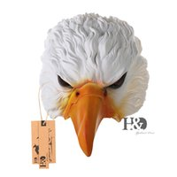 Animal Eagle Head Half Face Latex Party Mask Halloween Dance Party Costume Ano Novo XMAS Masks Theatre Toys Fancy Dress Festival