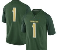 NCAA camisas de futebol da faculdade # 1 Green Baylor Bears Game Football custom jersey Untouchable College fábrica limitada sob medida Pro Bowl kids usa