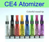 ego evod pil elektronik toptan satış-10 adet / grup CE4 Atomizer 1.6 ml elektronik sigara buharlaştırıcı clearomizer ego pil vizyon spinner için 510 konu EVOD ego büküm X6 X9