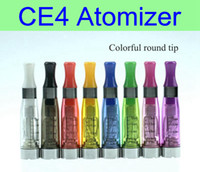 Wholesale Electronic Cigarette Pcs - 10 pcs lot CE4 Atomizer 1.6ml electronic cigarettes vaporizer clearomizer 510 thread for ego battery vision spinner EVOD ego twist X6 X9