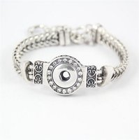 Wholesale diy jewelry crystal 12mm - DIY Noosa Chunks Crystal Bracelets Silver Plated Interchangeable 12mm Snap Buttons Stainless Steel Jewelry Women Fashion Bracelet DCBJ237