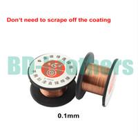 Wholesale copper wire line online – mm Copper Soldering Solder PPA Enamelled Reel Wire Line Roll Fly line Jump Wire