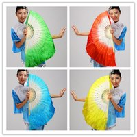 Wholesale wholesale chinese dancing fans - Chinese silk dance fan Handmade fans Belly Dancing props 5 colors