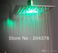 Wholesale 12 Inch Ceiling Shower Head - ceiling mounted shower heads ultra thin shower rainfall head 2mm 12 inch 072626