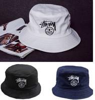 Wholesale Wide Brim Hat Outdoor - Wholesale-Fashion Men Women Hot Unisex Bucket Hat Hunting Fishing Outdoor Boonie Cap Unisex Summer Beach Hat Free Shipping