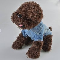 Wholesale Dog Jeans Clothing - 2016 Newest Autumn Vintage Dog Jeans Coat Clothes Mini Pet Puppy Dog Small Cute Dog Jeans Jacket Coat Solid Color Hot Sale