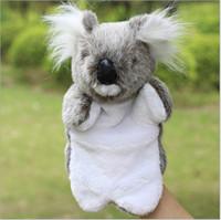 Wholesale Koala Finger Puppets - The new children's plush toy Plus LOGO custom koala koala plush hand puppet doll finger even small animals