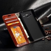 Wholesale Galaxy Core Flip Cover - Retro Vintage Wallet Leather Case With Stand Holder Card Slots Flip Cover Case For Samsung Galaxy Core Prime G360 G3606 G3608