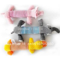 Wholesale Dog Plush Cotton Rope - Wholesale-Free Shipping 1Pc Funny Plush Sound Dog Puppy Cotton Rope Toys Pet Chew Squeaker Squeaky Toy FZ1685 RsNV