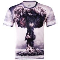 Wholesale V Bomb - w1215 Explosion Atomic Bomb Printed 3D T-shirts, Punk 3D Short Sleeve Tee Shirt M- 4XL   10 Style Men 's T- Shirts