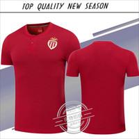 Wholesale Monaco Gold - New season T-shirt 1718 Monaco polo T-shirts Top quality FALCAO MBAPPE LEMAR Monaco Polo jersey
