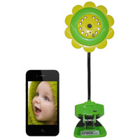 Wholesale Free Electric Monitor - Hot Sunflower Wireless WiFi Camera Baby Monitor Canera Night Vision for iPhone iPad Android Free Shipping