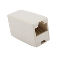 Barato Conector De Extensão Lan-Ethernet Lan rede CAT5 RJ45 Cable Coupler Joiner Connector Extender plug 300pcs / lot