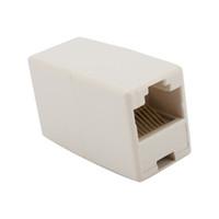 Wholesale Cat5 Coupler - Network Ethernet Lan CAT5 RJ45 Cable Coupler Joiner Connector Extender Plug 300pcs lot