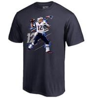 football américain t shirts achat en gros de-Football américain masculin 12 Tom BRADY 87 Rob Gronkowski 11 JULIAN EDELMAN t-SHIRT NOM NUMBER Patriot 100% COTON TEE