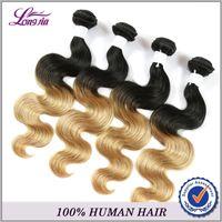 Wholesale Wet Wavy Ombre Weave - # 1B 27 3Pcs Lot Grade 7a Filipino Virgin Hair Body Wave 100% Cheap Human Hair Weave Bundles 300g Wet and Wavy Human Hair