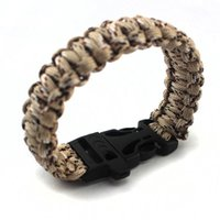 Wholesale Camouflage Paracord - 1PCS High Quilty 550 Paracord Survival Bracelet Plastic Clasp  Desert Camouflage Hiking Outdoor Tool