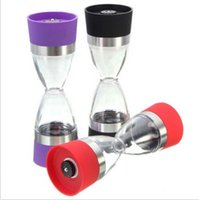 Ceramic black pepper design - 2 in Dual Salt and Pepper Mill Well Designed Salt Grinder and Pepper Mill black red purple