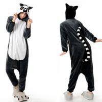 Wholesale Monkey Kigurumi - Long Tail Monkey Animal Onesies Kigurumi Pajamas Onesies Costumes Women Ladies One Piece Pyjamas Animal Costumes Pajamas