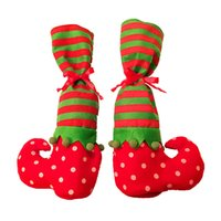Wholesale small christmas socks for sale - Group buy New Christmas Small Socks Gift Bag Restaurant Hotel Decoration Bottle Cover bags Decoration IC831