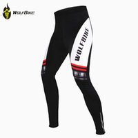 Gros-Wolfbike Winter Fleece Bicicleta Ropa Ciclismo VTT Vêtements Cycle Set 3D rembourrée GEL vélos Cyclisme Pantalon Jersey Suit