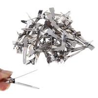 düz tutamak klipsleri toptan satış-50 adet / paket Gümüş Pro Salon Saç Firkete DIY Aracı Düz Metal Tek Prong Timsah Saç Klipler Barrette Kuaförlük Aksesuarları