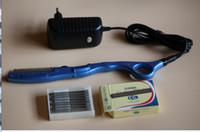 Wholesale Vibrating Hair - wholesale ultrasonic hot vibrating Razor for hair cut  hair beauty salon +10 pieces of super quality razor blades