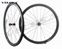 Wholesale 38mm Carbon Clincher Rims - Velosa Ultimate 35 Asymmetrical 38mm clincher tubular Full carbon bike wheelset,700C road bike wheel,rear asym rim with DT240 DT350 hubs