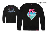 Wholesale Pink Dolphin Sweatshirts - 2017 Amazing Spring Autumn Casual Sports Long Sleeve Hooded Sweatshirt Hoodies Free Shipping Pink dolphin thin neck sweater