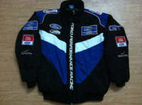 Wholesale Racing Performance - Embroidery LOGO F1 FIA NASCAR IndyCar V8 Supercar Racing Cotton Jacket Ford Performance Racing Jacket A163