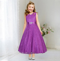 Wholesale Wholesale Designer Prom Dresses - Summer Pink Lace Party Dresses New Designer Children Teenagers Prom Ceremonies Gowns Vestidos Birthday Princess Dress
