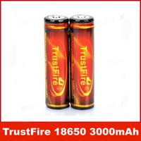pil pcb toptan satış-Yüksek Kaliteli TrustFire PCB Korumalı 18650 3.7 V 3000 mAh Şarj Edilebilir Pil 2 adet / takım Çevre Tasarım Lityum Pil