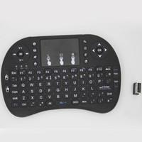 2.4g mini teclado qwerty sem fio venda por atacado-Venda quente Fly Mouse Para O Google Caixa de Tv MINI PC Toque Esquilo Voador A21 2.4G Sem Fio Qwerty teclado Wi-fi Com Smart TV A21 RII I8
