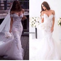 Wholesale Exquisite Wedding Dress Off Shoulder - 2017 Exquisite Off the Shoulder Lace Mermaid Wedding Dresses Formal Appliqued Court Train Bridal Gowns Backless Sexy Vestidos De Noiva