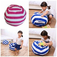 Wholesale bedroom mats - 63cm Kids Storage Bean Bags Plush Toys Beanbag Chair Bedroom Stuffed Animal Room Mats Portable Clothes Storage Bag 4 Colors OOA3524