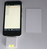 lectores de tarjetas de proximidad al por mayor-Lector Micro USB NFC 13.56 Mhz Sensor de proximidad RFID Lector de tarjetas inteligentes 4/7 bytes UID adaptable para Android Linux Windows