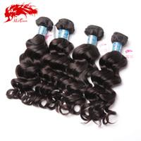 Wholesale More Wavy Virgin Hair - Ali Queen hair Unprocessed Virgin Peruvian Hair Weave Bundles, Unprocessed Peruvian Virgin Hair Natural Wavy or More Wave 4 Bundles